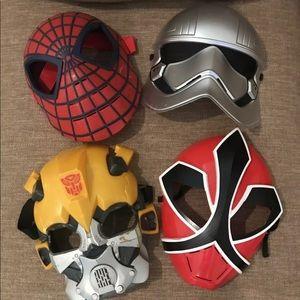 Lot Of 4 Character Masks marvel Spider-Man, ect